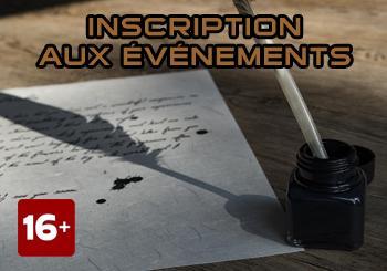 INSCRIPTION AUX ÉVÉNEMENTS